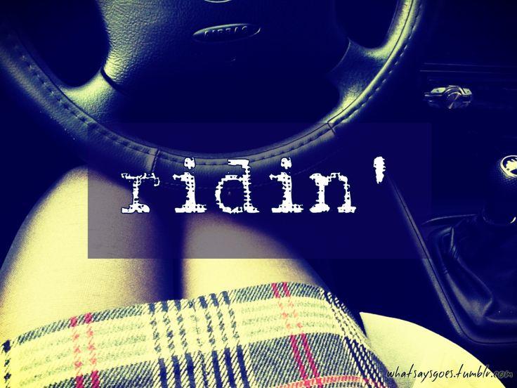 ridin'   lady @ the steering wheel