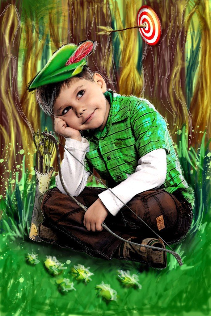 photo + digital painting Robin Hood bu Wait94 Vaygacheva Nastya