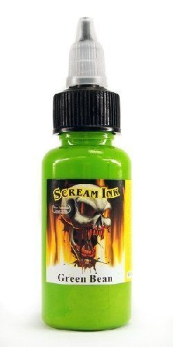 Scream Tattoo Ink -GREEN BEAN- 1/2-oz Bottles -Tattoo Supplies- by WorldWide Tattoo Supply. $2.75. Scream ink is distributed by Worldwide Tattoo Supply. All inks are best used within 3 years from manufacture date.