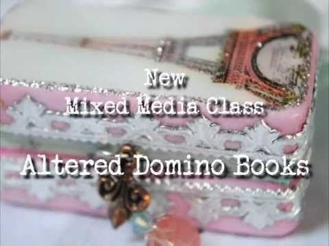 Creative Workshops New Class on Altered Domino Books!
