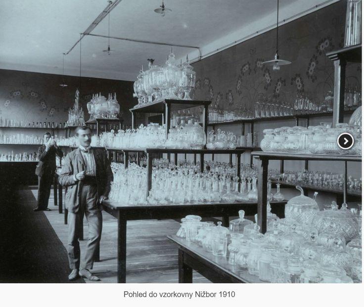 Pohled do vzorkovny Nižbor 1910.