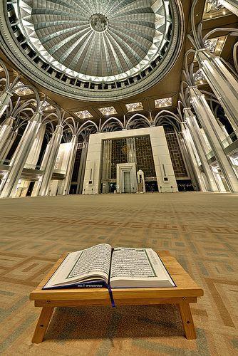 """true guidance""  Location: Masjid Besi (Iron Mosque), Putrajaya, Malaysia"