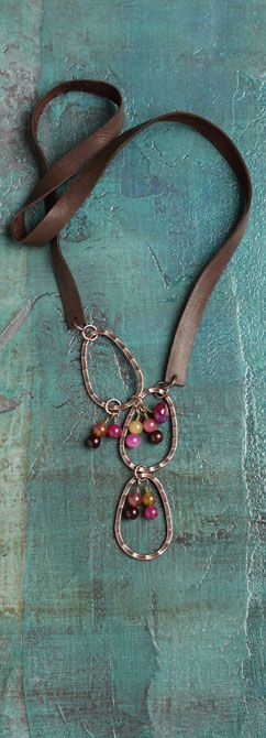 leather, hammered rings, beads