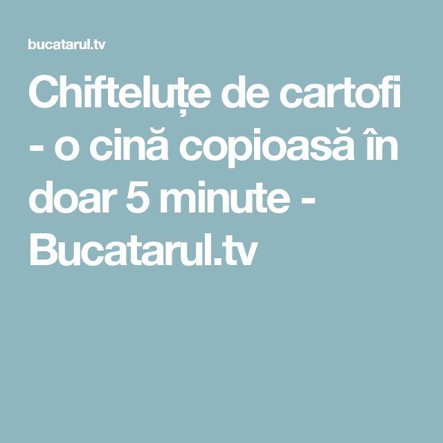 Chifteluțe de cartofi - o cină copioasă în doar 5 minute - Bucatarul.tv