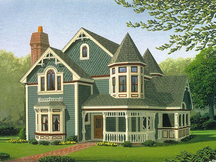Victorian House Plan http://www.thehouseplanshop.com/6216/plan-detail/054h-0008.php