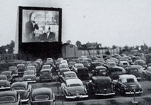 Drive-in theater in the 50's, 60's & 70's. We still have a couple around here even now! I figure we are lucky!
