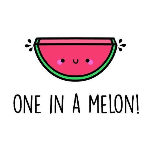 You're one in a melon pun. Great Valentine gift for him or for her. Available in tshirt, hoodie, mugs, laptop skins, cellphone cases and more!