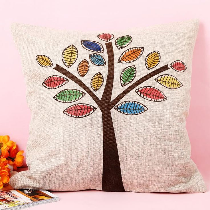 Find More Cushion Cover Information about Pillow Cover Colorful Trees Cushion Cover Decorative Modern Pillow Covers For Wedding Home Decor,High Quality pillow wedge,China pillow stone Suppliers, Cheap pillow cover pattern from Little Lady House on Aliexpress.com