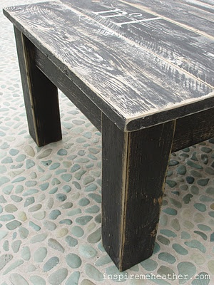 Coffee table from pallets