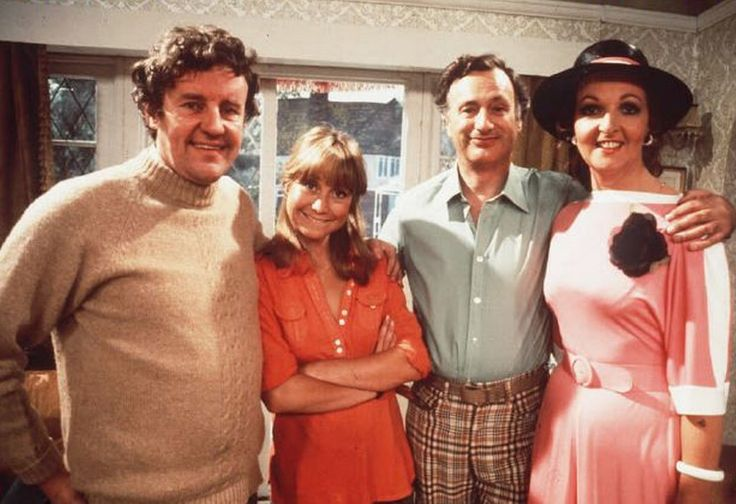 BBC sitcom 'The Good Life' ran from 1975 to 1978 and was voted Britain's ninth best sitcom in 2004. The picture shows cast members Richard Briers, Felicity Kendal. Paul Eddington and Penelope Keith