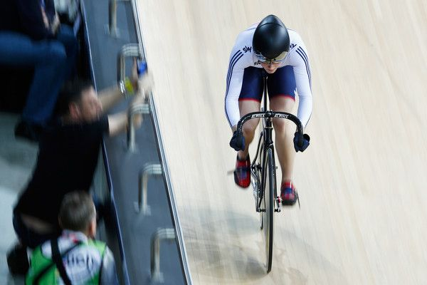 Victoria Williamson Photos - Victoria Williamson of the Great Britain Cycling Team competes in the Womens Sprint Qualifying race during day 3 of the UCI Track Cycling World Championships held at National Velodrome on February 20, 2015 in Paris, France. - UCI Track Cycling World Championships: Day 3