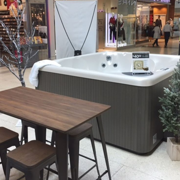 Come check out Beachcomber Hot Tubs' booth in the Burlington Mall near Oakville, Ontario! #comfortable #relaxed #fall #winter #hottubs #beachcomber #warm #water #nature #canada #paradise #staywarm #comfort #spas #canadasown #comforting #comfortable #relaxing #relax #wow #healthyliving #beachcombertubs #hottubs #spa #hottub #paradise #deck #porch #view #ontario #comforted