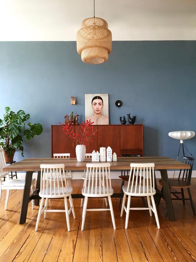 Im Esszimmer bei MiMaMeise – skandinavisch trifft auf Vintage! #living #wohnen #wohnideen #esszimmer #holzdielen #IKEA #einrichten #interior #COUCHstyle
