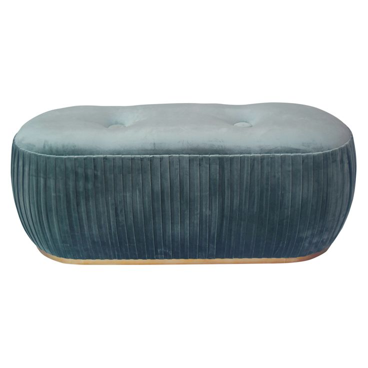This beautifuloval ottoman is perfect for kicking your feet up and letting the days stresses fade away! Add a serving tray for coffee table-esque functionality