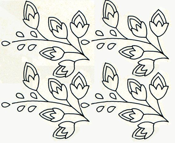 Genuine Vintage 1950s 'Flowers & Sprigs' X4 Collection Iron On Transfer Sewing Pattern, Unused