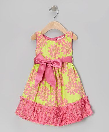 Take a look at this Lime Evelyn Dress - Toddler by Trish Scully Child on #zulily today!
