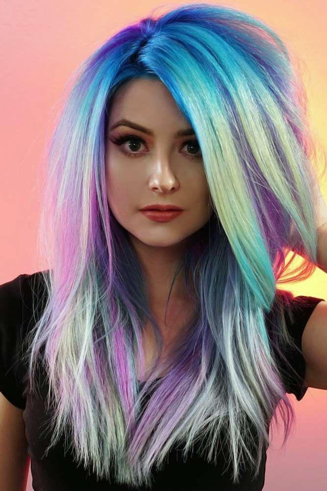 25 Tips Illuminant Shades To Rock Magical Holographic Hair Hair Holographic Illuminant Magical Rock S In 2020 Holographic Hair Hair Color Highlights Hair Styles