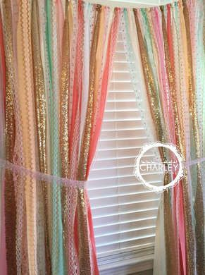 DIY Ribbon Garland for Window