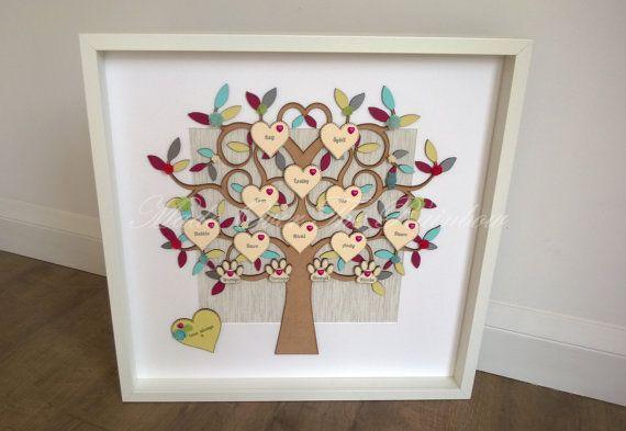 FAMILY TREE FRAME  Extra large Handmade Family Tree Frame   Etsy