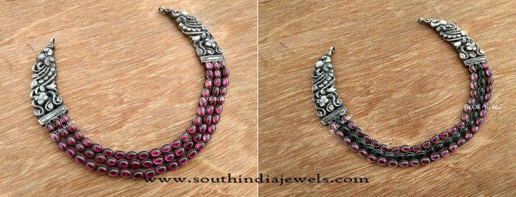 Silver Jewellery Nakshi Necklace