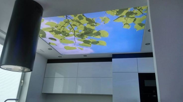 Sufit napinany. / Stretch ceiling.