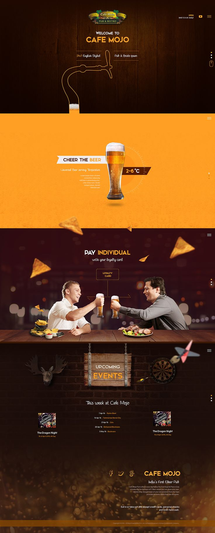 Cafe Mojo Website Design