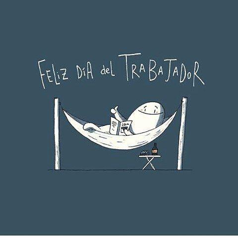 Feliz Día para todos nosotros   Por  @dalmaus  #pelaeldiente  #feliz #comic #caricatura #viñeta #graphicdesign #funny #art #ilustracion #dibujo #humor #sonrisa #creatividad #drawing #diseño #doodle #cartoon #DíaDelTrabajador