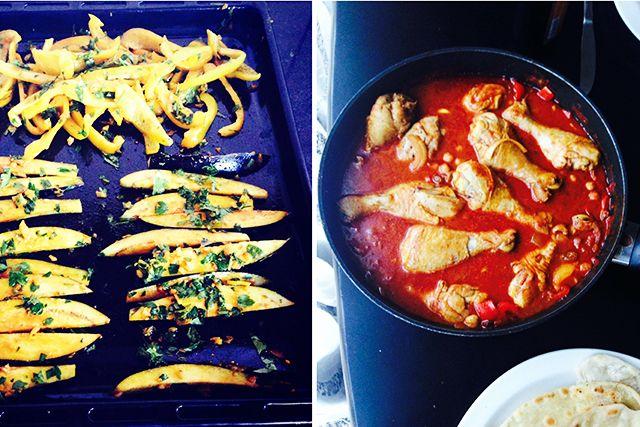 Heerlijk Oosters gerecht met een speciaal aubergine friet recept. Friet van aubergine, Oosterse kip recept en gezonde wraps, wie wil dat nou niet:D