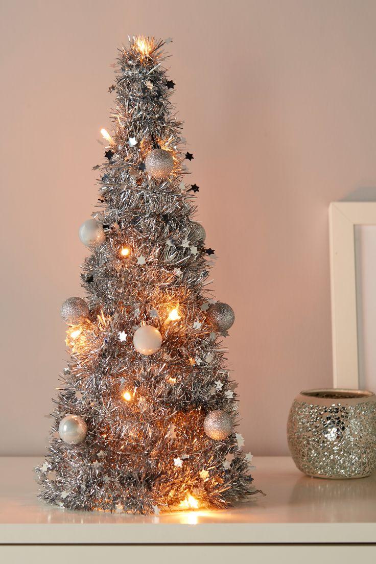 Choinka Sztuczna Led Mala 50 Cm Srebrna Holiday Decor Christmas Tree Decor
