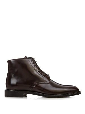 Lace-up high-shine leather boots | Burberry Prorsum | MATCHESFASHION.COM