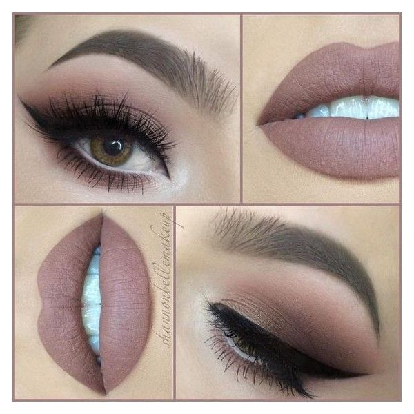 "Shannon Belle on Instagram ""Another day, another nude lip! With ❤ liked on Polyvore featuring beauty products, makeup and lip makeup"