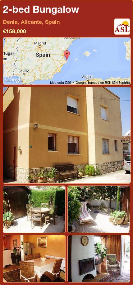 2-bed Bungalow in Denia, Alicante, Spain ►€158,000 #PropertyForSaleInSpain