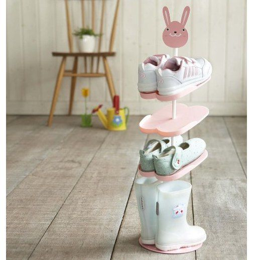 Kid's Shoes Rack from Japan. Pink