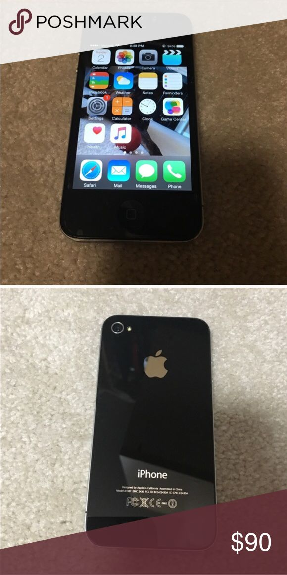 Apple iPhone 4. 32GB Apple iphone4. Screen has had a protector since I got it- no scratches on screen very few on back.  Excellent Condition. Restored to factory settings! Apple Accessories