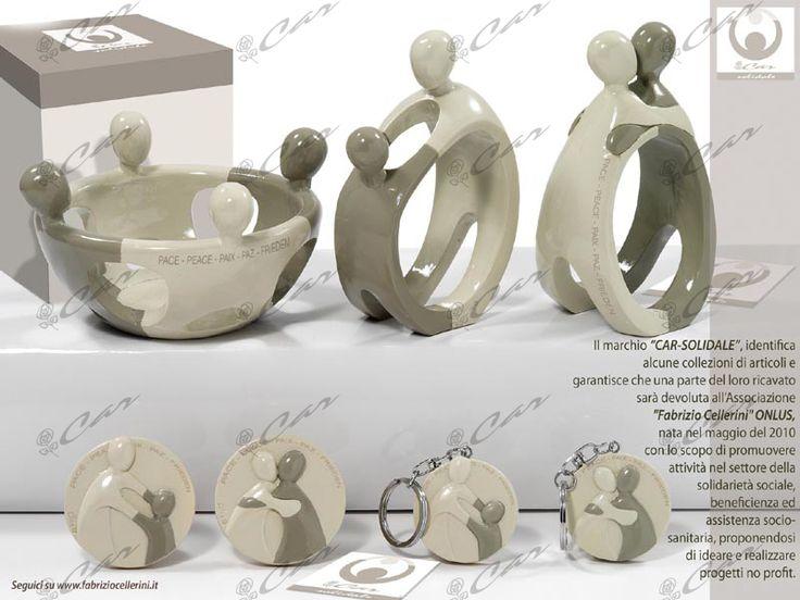 Soggetti stilizzati, magnete e portachiavi in resina