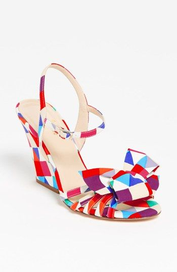 kate spade new york salem wedge sandal available at #Nordstrom.  How much FUN would this be under the wedding dress?!