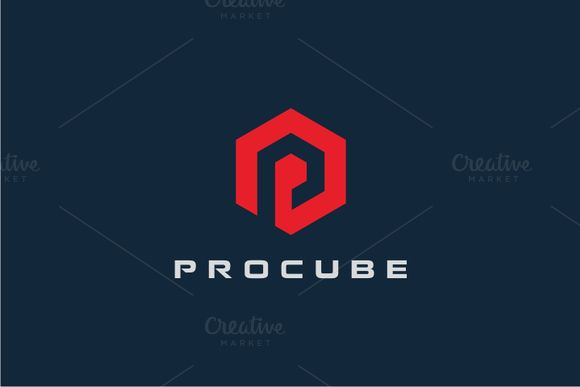 Procube - Letter P Logo by yopie on @creativemarket