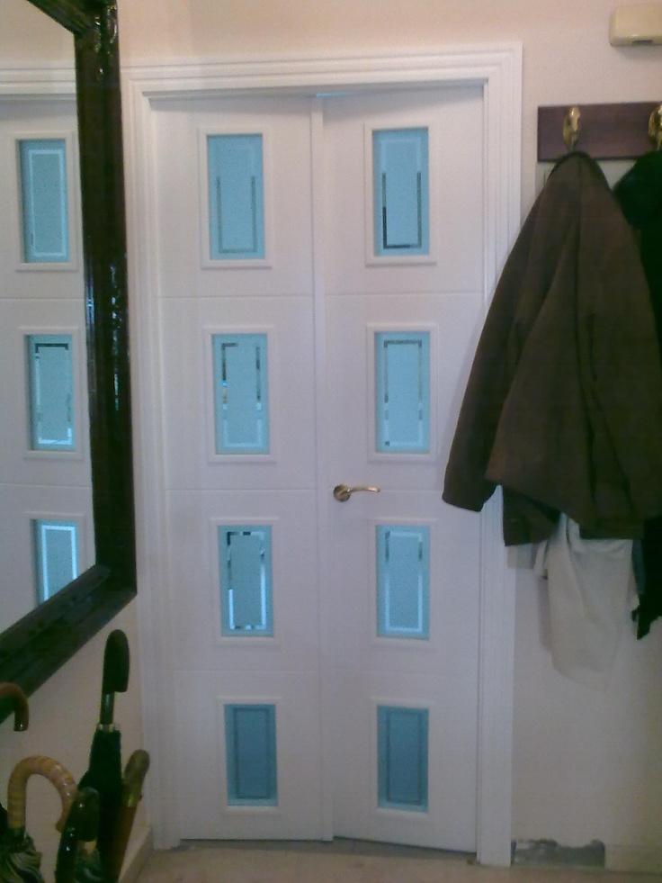 126 best images about puertas lacadas en blanco on pinterest - Puertas de dos hojas ...