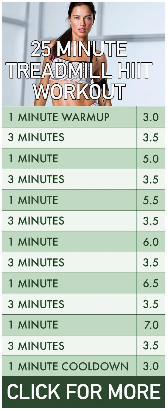 25 minute treadmill HITT exercise. Perfect fat burning workout to fit in your gym schedule. #GymSchedule #fitnessexercises