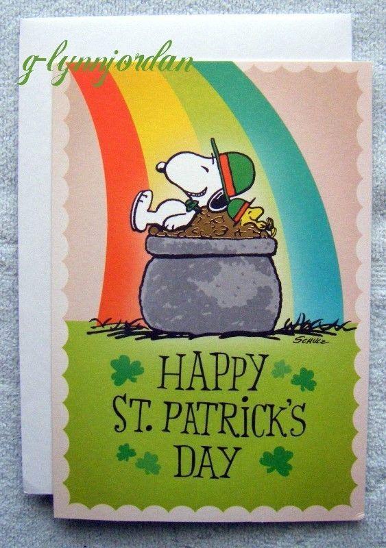 SNOOPY PEANUTS ST. PATRICK'S DAY * HALLMARK GREETING CARD * POT OF GOLD | eBay