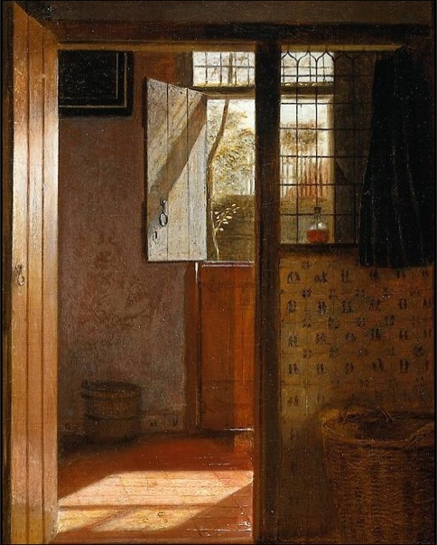 Pieter de Hooch (Dutch, 1629-1684) - Interior (detail), c. 1660