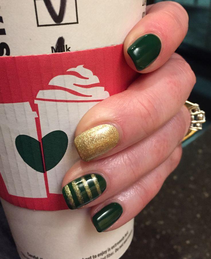 St Patrick's Day nail art