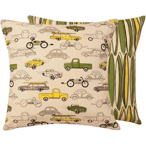 Boy Bedding Car Pillow Cover 20x20 by ChloeandOliveDotCom on Etsy, $27.00
