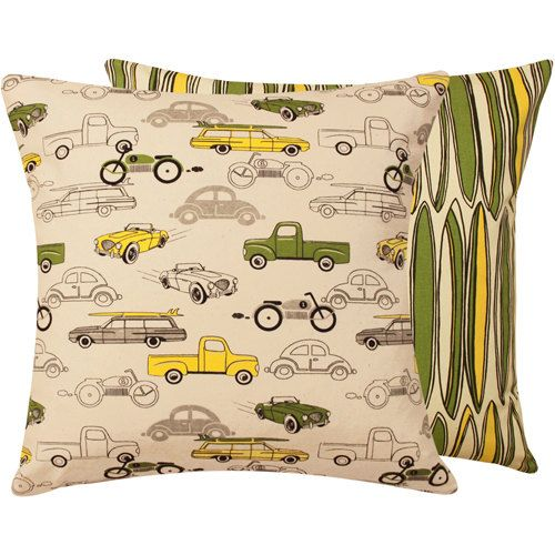 Boy Bedding Car Pillow Cover 20x20 by ChloeandOliveDotCom on Etsy, $27.00