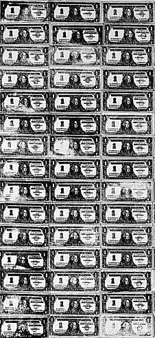 Andy Warhol, 200 One Dollar Bills (detail) 1962 – …