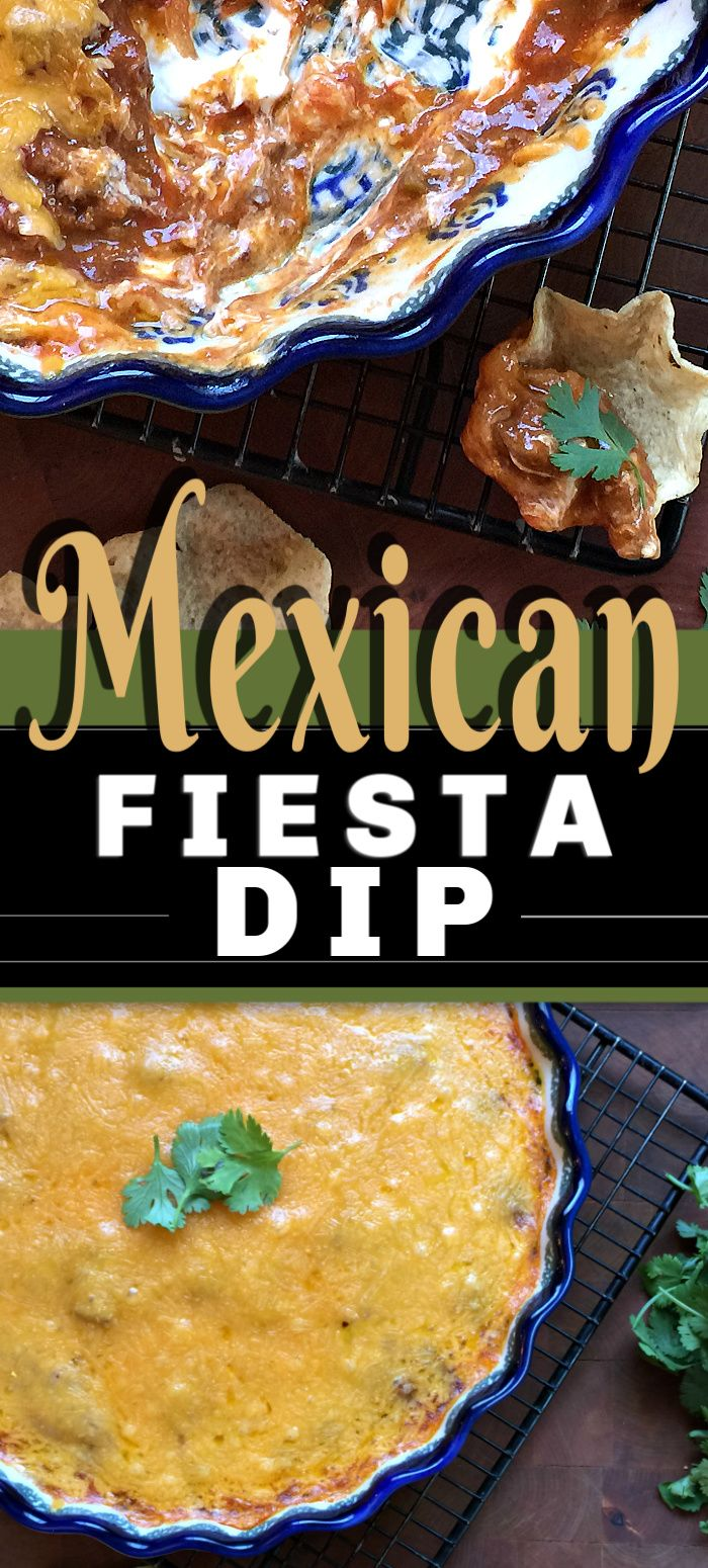 Jul 11, 2020 – How could you not love the appetizer recipe, MEXICAN FIESTA DIP? Smothered with cheese and that rich crea…