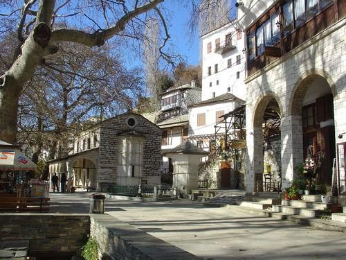 A traditional historic village near to the ski resort of Pelio.  It's the seat of the Comunity of Makrynitsa