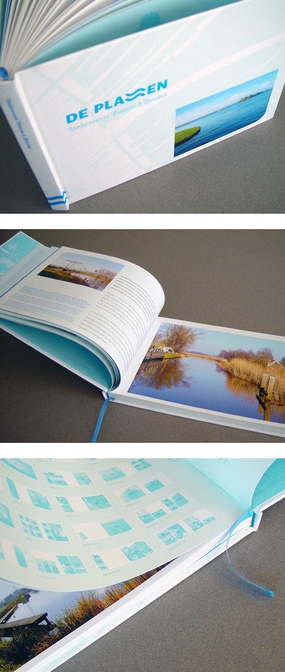 Ontworpen in opdracht van Tweed BNO: Koffietafel-fotoboek 'De Plassen – Vinkeveense Plassen & Botshol'.