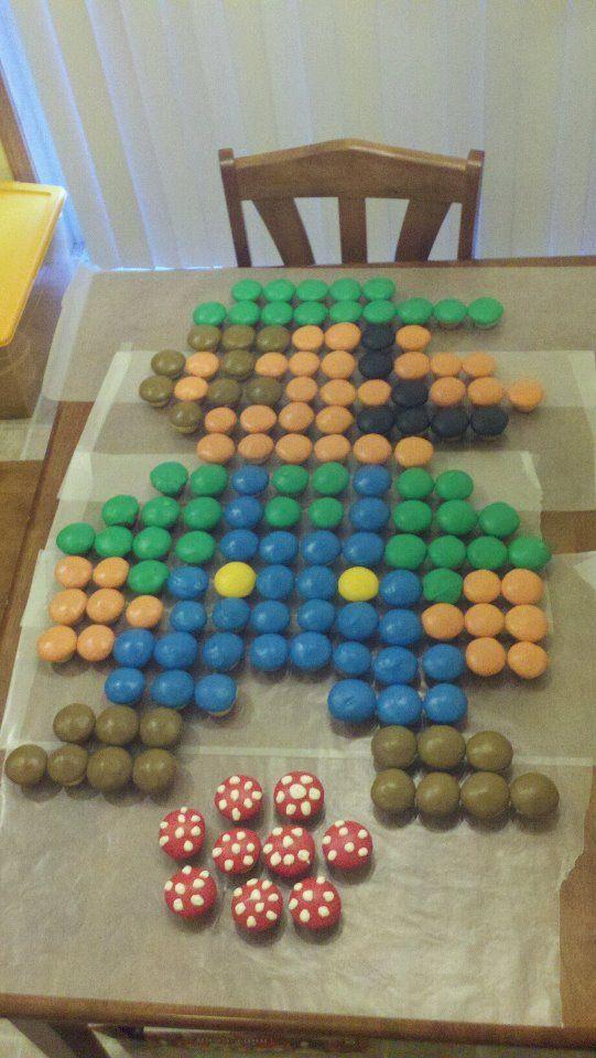 """Luigi Cupcake """"cake"""" for a big luigi fan! :D [by Robyn Urhausen] @Joey Ceunen Smith for the boys bday"""
