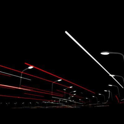 lignes de voitures filantes